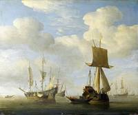 Willem van de Velde - An English Vessel and Dutch
