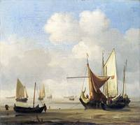 Willem van de Velde - Small Dutch Vessels Aground