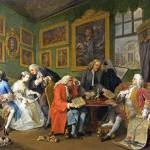 """William Hogarth - Marriage A-la-Mode - 1, The Marr"" by ArtLoversOnline"