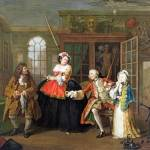 """William Hogarth - Marriage A-la-Mode - 3, The Insp"" by ArtLoversOnline"