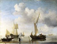 Willem van de Velde - Dutch Vessels lying Inshore