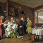 """William Hogarth - Marriage A-la-Mode - 6, The Lady"" by ArtLoversOnline"