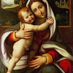 """Workshop of Andrea Solario - The Virgin and Child"" by ArtLoversOnline"