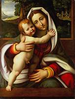 Workshop of Andrea Solario - The Virgin and Child