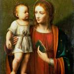 """Workshop of Bernardino Luini - The Virgin and Chil"" by ArtLoversOnline"