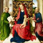 """Workshop of Dirk Bouts - The Virgin and Child with"" by ArtLoversOnline"