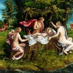 """Workshop of Giulio Romano - The Infancy of Jupiter"" by ArtLoversOnline"