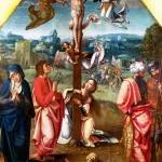 """Workshop of the Master of 1518 - The Crucifixion"" by ArtLoversOnline"