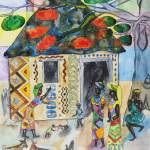 """African woman decorating her home (Often I dream a"" by gheider"
