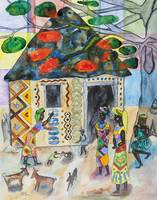 African woman decorating her home (Often I dream a