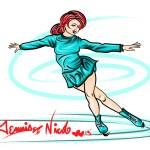 """12-7-13 The Ice Skater"" by artinthegarage"