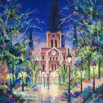 """Jackson Square, Night Garden"" by neworleansartist"
