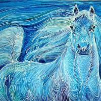 Stardust Batik Equine by Marcia Baldwin