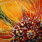 """BATIK SUNFLOWER HEART"" by MBaldwinFineArt2006"