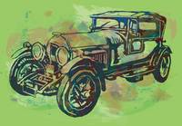 Classical Car Stylized Pop Art Poster