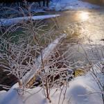 """""""Winter River Landscape"""" by jacquelineevans"""