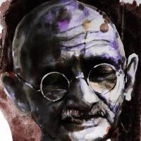 Gandhi Art Prints & Posters by Laur Iduc