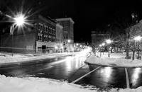 Court Square of Harrisonburg after dark