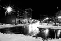 Timed exposure of Court Square in Harrisonburg