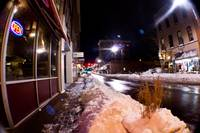 Downtown Harrisonburg after snow