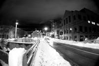 Downtown Harrisonburg following winter storm Pax