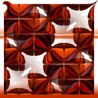 Tartan Tiles Art Prints & Posters by Gillian Owen