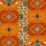 """Orange Geometry II"" by ArtByRuta"