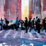"""Mobile Society Crosswalking New York City"" by arthop77"
