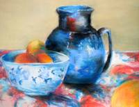 Still Life in Blue and Orange