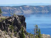 Crater Lake Rim Art Prints Rock Cliff Blue Lake Pi