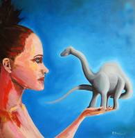 Brontosaurus and Girl