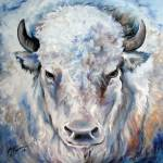 """WHITE BUFFALO 2424"" by MBaldwinFineArt2006"