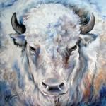 """WHITE BUFFALO 2424"" by MBaldwinFineArt2006"