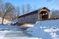 Covered Bridge at Christmas
