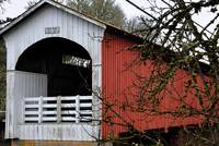 The Red Sided Covered Bridge