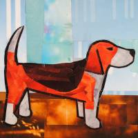 Red Beagle Art Prints & Posters by Megan Coyle