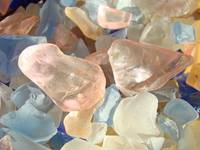 Seaglass Designs Pink Blue Orange Sea Glass Beach