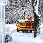 """On the Way to School in Winter"" by susansartgallery"