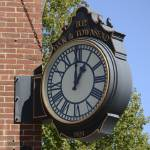 """Old Bank Clock Boothbay Harbor, ME"" by KerstPhoto"
