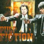 """Samuel L Jackson & John Travolta Pulp Fiction"" by creativesportsart"