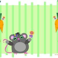 Happy Mouse with Lollipop Art Prints & Posters by Pam Kai
