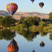 Balloons over Prosser Art Prints & Posters by Carol Groenen