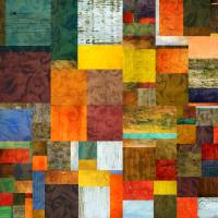 Brocade Color Collage 1.0 Art Prints & Posters by Michelle Calkins