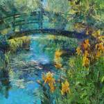 """Monets bridge with Irises"" by DragicaMickiFortuna"