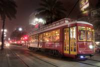 Canal Streetcar in the Fog
