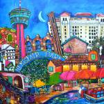 """lorfings downtown San antonio"" by artbypatti"