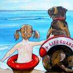 """The Lifeguard"" by artbypatti"