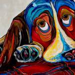 """Bassett has the Blues"" by artbypatti"