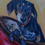 """Black dachshund"" by artbypatti"