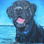 """The Black Lab"" by artbypatti"